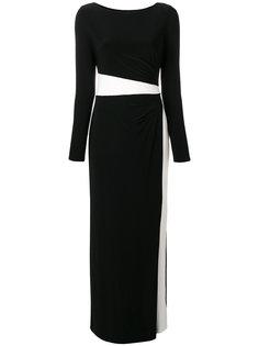 платье макси дизайна колор-блок Ralph Lauren