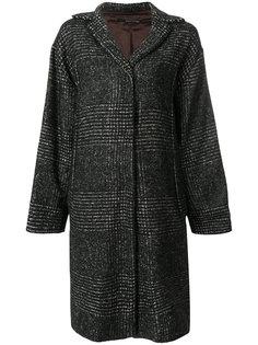 пальто с меховыми нашивками Maurizio Pecoraro