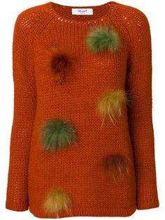 свитер с помпонами Blugirl