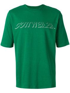 футболка с голографическим логотипом Cottweiler