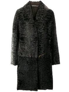 пальто с драпировкой и вышивкой  32 Paradis Sprung Frères