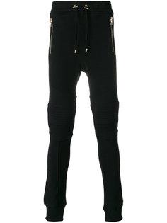 байкерские спортивные брюки Balmain