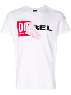 футболка с логотипом Diesel