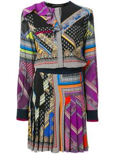 плиссированное платье с принтом  Etro