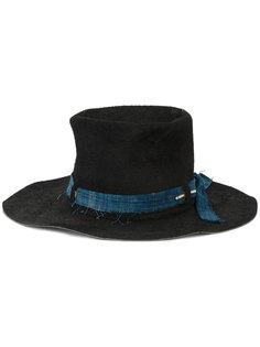 шляпа с отделкой из денима Nick Fouquet