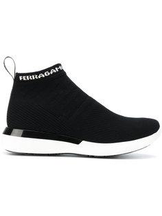 вязаные кроссовки с носочной вставкой Salvatore Ferragamo