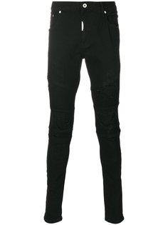 байкерские джинсы с рваными деталями Represent