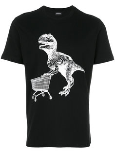 футболка с принтом динозавра Diesel