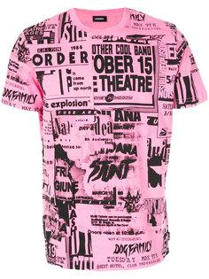 футболка с сплошным принтом Diesel