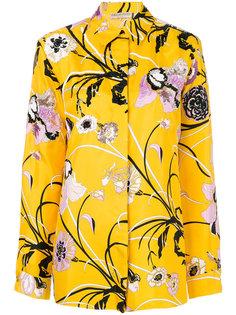 рубашка с вышитыми цветами  Emilio Pucci
