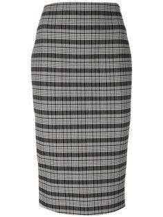 юбка-карандаш в рубчик  Victoria Beckham