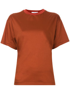 футболка с заклепками на плечах  Toga Pulla