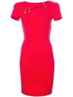 облегающее платье с элементом булавки Versus