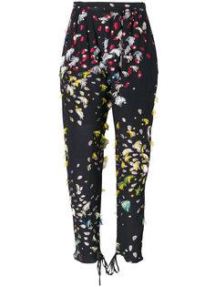 зауженные брюки с принтом Chloé