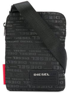 сумка на плечо с принтом-логотипом Diesel