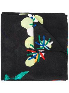 шарф с цветочной вышивкой Diesel