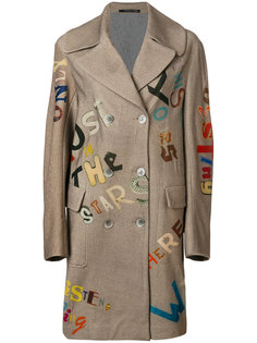 двубортное пальто Maurizio Pecoraro