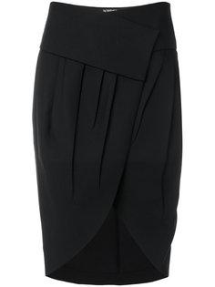 асимметричная плиссированная юбка с запахом  Jacquemus