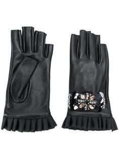 декорированные перчатки без пальцев Twin-Set