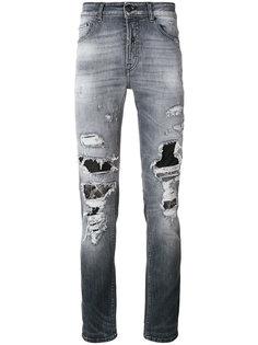 джинсы с протертыми деталями Marcelo Burlon County Of Milan