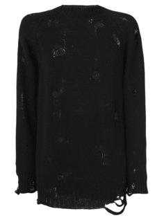 свитер с потертой отделкой Maison Mihara Yasuhiro