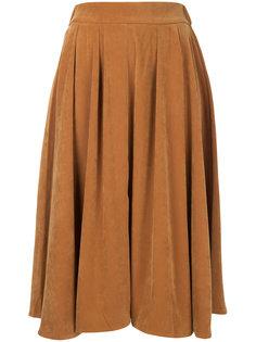 плиссированная юбка с завышенной талией  Cityshop