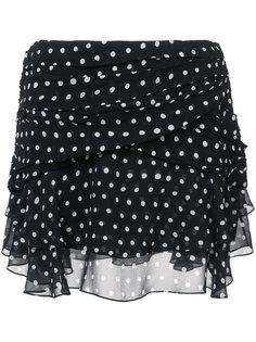 юбка в горох с запахом Saint Laurent