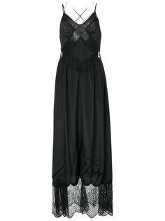 платье-комбинация с кружевом Diesel