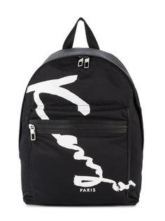 рюкзак с принтом Signature Kenzo