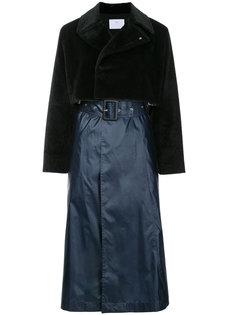 пальто с контрастной отделкой  Toga Pulla