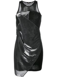 короткое платье с драпировкой Versus