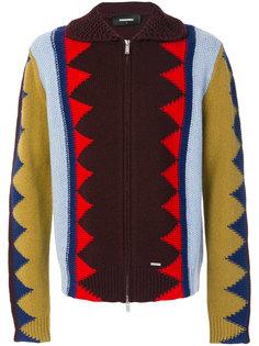 свитер с зигзагообразным узором Dsquared2