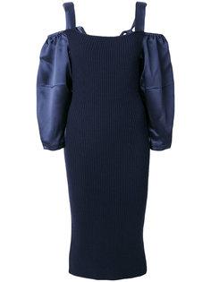 платье с открытыми плечами  Alberta Ferretti