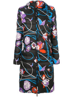 дутая куртка с цветочным принтом  Emilio Pucci