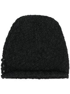 вязаная шапка с необработанным краем Transit