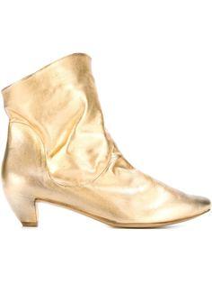 ботинки с эффектом металлик  Marsèll