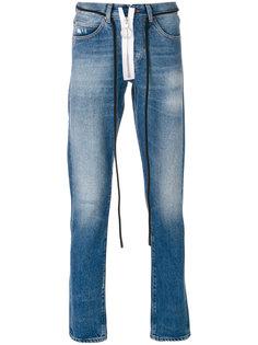 выбеленные джинсы прямого кроя Off-White
