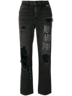 укороченные джинсы с завышенной талией  Alexander Wang