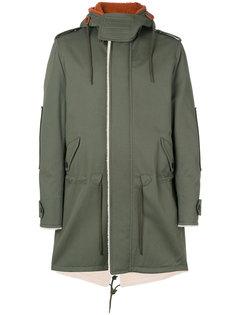 пальто с капюшоном и графическим принтом  Valentino