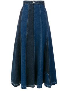 А-образная джинсовая юбка  Alexander McQueen