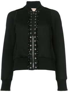куртка бомбер с вышивкой Nº21