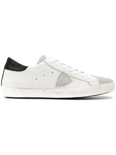 кроссовки на шнуровке с заплаткой с логотипом Philippe Model