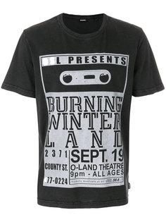 футболка с графическим принтом Diesel