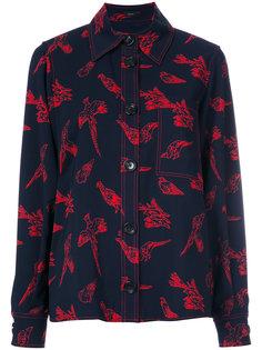рубашка с воротником и принтом птиц  Joseph