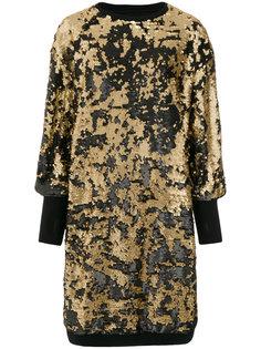 платье-толстовка с отделкой пайетками  Nostra Santissima