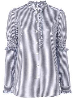 рубашка в тонкую полоску с высокой горловиной See By Chloé