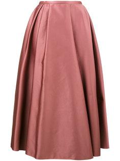 атласная плиссированная юбка  Rochas