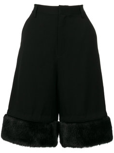 шорты с отделкой из искусственного меха  Comme Des Garçons Noir Kei Ninomiya