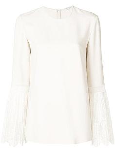 блузка с кружевными плиссированными манжетами  Stella McCartney