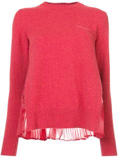 свитер с плиссировкой на спине Sacai